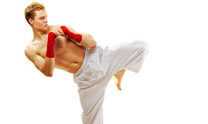 Champions Martial Arts: 10 or 20 Martial-Arts Classes with Hand Wraps and a T-Shirt at Champions Martial Arts (Up to 77% Off)