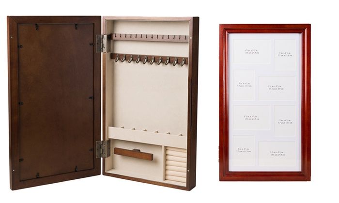 photo collage jewelry armoire groupon goods On collage photo frame jewelry armoire