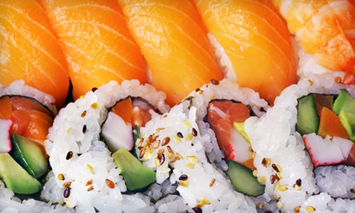 Ninja Spinning Sushi Bar - Boca Raton: $16.50 for $30 Worth of Sushi and Asian Tapas for Dinner for Two or More at Ninja Spinning Sushi Bar