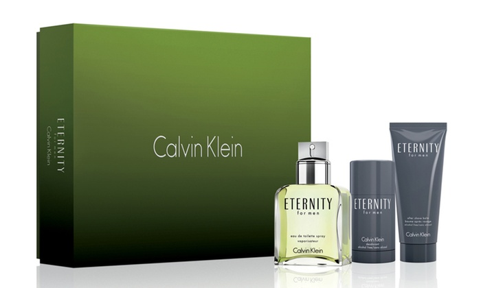 Calvin Klein Eternity Men's Gift Set: Eternity by Calvin Klein 3-Piece Gift Set for Men with Eau de Toilette, Stick Deodorant, and Aftershave Balm