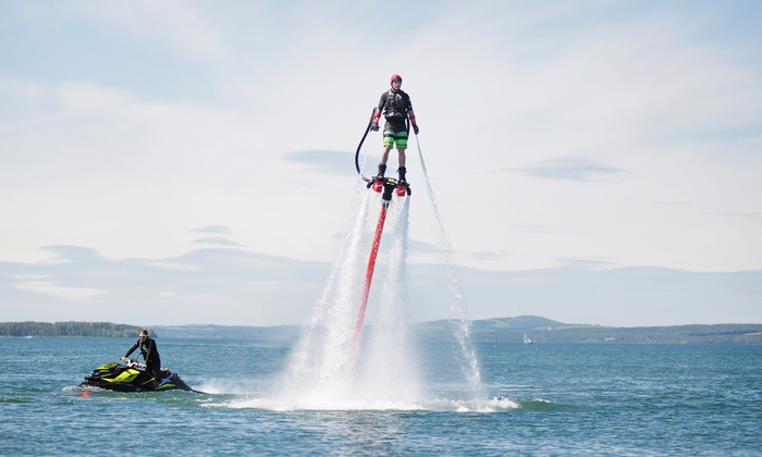 Alberta Flyboard Inc. - Multiple Locations: Flyboarding Sessions for One or Three People at Alberta Flyboard Inc. (Up to 51% Of)