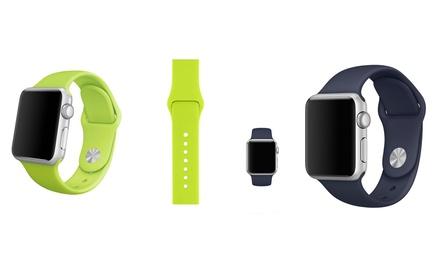 Silikon-Armband für die Apple Watch in der Größe und Farbe nach Wahl (88% sparen*)