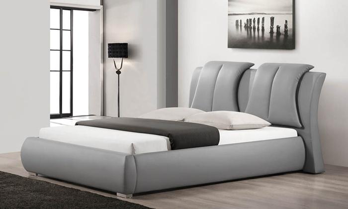 Upholstered Platform Bed Groupon Goods