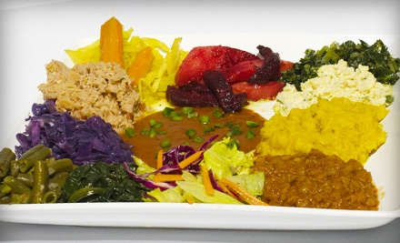 Ethiopian Cuisine at Desta Ethiopian Restaurant (Up to 57% Off). Three Options Available.
