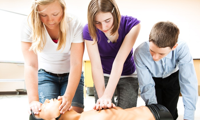 Healthcareer Group - Montgomery: Heartsaver First-Aid, CPR, and Defibrillator Course for One or Two at Healthcareer Group (Up to 63% Off)