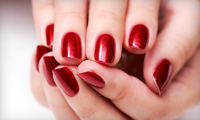 Nails by Lois Salon and Day Spa - Amityville: One or Three Shellac Manicures or One or Three Full-Face Waxes at Nails by Lois Salon and Day Spa (Up to 56% Off)