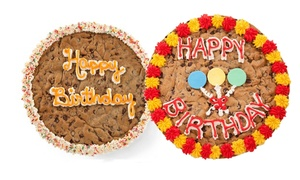 "Mrs. Fields: $17 for a 16"" Custom Cookie Cake  at Mrs. Fields (Up to $29.99 Value)"