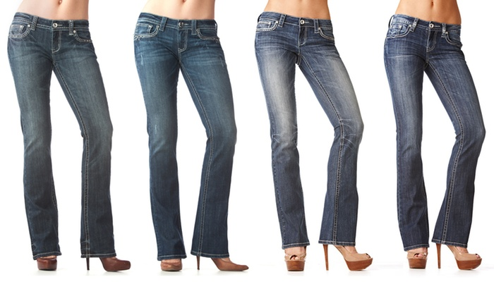 Grace in LA Easy Fit Boot Cut Jeans: Grace in LA Easy Fit Boot Cut Jeans. Multiple Options Available. Free Shipping and Returns.