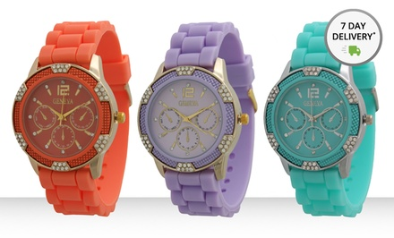 Women's Chrono-Style Watch. Multiple Colors Available. Free Returns.
