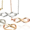 18K Gold Over Sterling Silver Infinity Pendant Necklaces or Rings