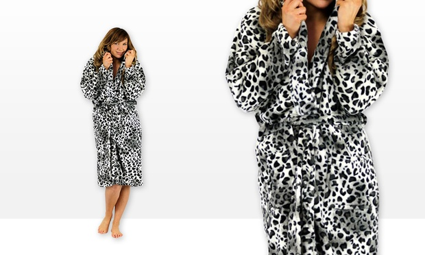 Leopard Print Dressing Gown | Groupon Goods