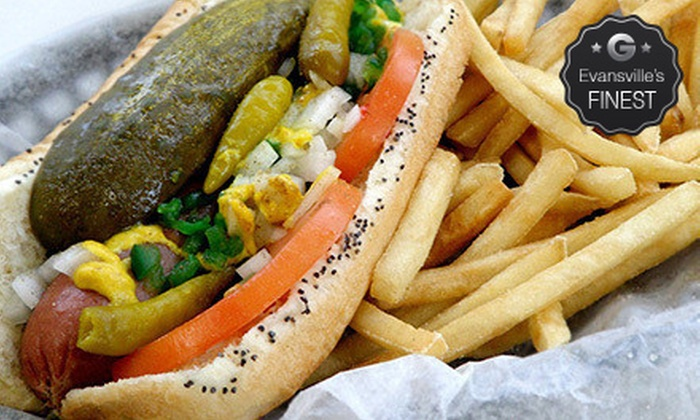 Cleavers - Evansville: Hot Dogs, Italian Beef, or Gyros for Two or Four at Cleavers (Up to 51% Off)