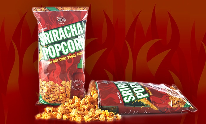 J&D's Foods Sriracha Popcorn: $29.99 for a 12-Pack of J&D's Foods Sriracha Popcorn ($49.99 List Price). Free Shipping.