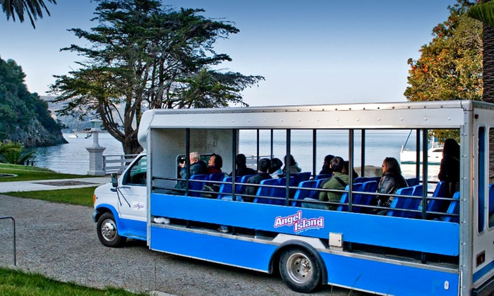 Angel Island Company - Belvedere Tiburon: Historic Angel Island Tram Tour for Two, Four, or Six from Angel Island Company (Up to 50% Off)