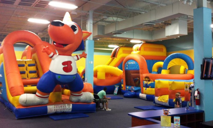 Jump A Roos - Cutler Bay: VIP Jump Pass for One or Four Kids or FamilyPackage for Two Kids with Pizza at Jump A Roos (Up to 75% Off)
