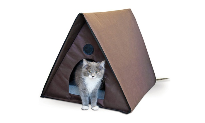 Outdoor Heated Multi Kitty A Frame Chocolate House Groupon