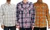 Indigo Star Men's Woven Button-Up Shirt: Indigo Star Men's Woven Button-Up Shirt
