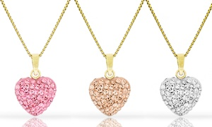 Kids' Crystal Heart Pendants in 14K Yellow Gold at Kids' Crystal Heart Pendants in 14K Yellow Gold, plus 6.0% Cash Back from Ebates.
