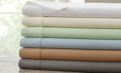 1,000-Thread-Count Cotton-Rich Hotel New York Sheet Set