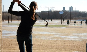 Golf Zone: 1 Hour of Heated-Driving-Range Time and Drinks, or 5 or 8 Hours of Range Time at Golf Zone (Up to 58% Off)