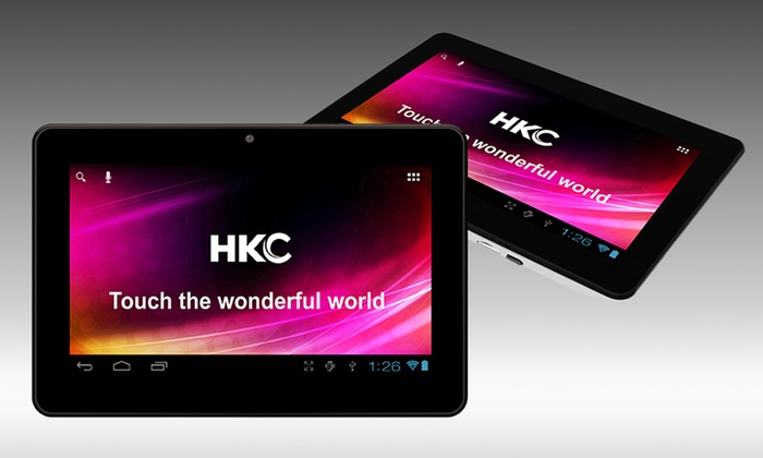 """HKC 7"""" 16GB Android Tablet with Dual-Core Processor: $109.99 for an HKC 7"""" 16GB Android Tablet in Black or White ($179.99 List Price). Free Shipping and Returns."""