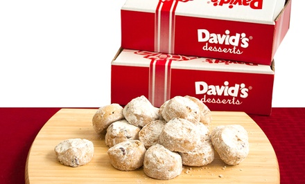 Two 16oz. Boxes of David's Cookies Butter Pecan Meltaways