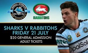 Cronulla Sharks: Sharks v Rabbitohs at Southern Cross Group Stadium, Cronulla - 21 July 2017