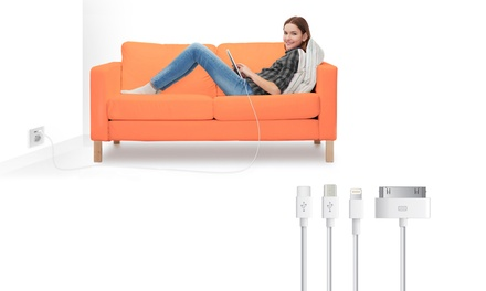 Oplaadkabels van 1, 2 of 3 meter voor Lightning®, Micro usb of usbc