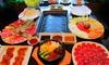 TOUHOU - Touhou: Menú coreano para 2 o 4 con entrantes, barbacoas de carne, pescado y de verduras, principal, postre y vino desde 29,90 €