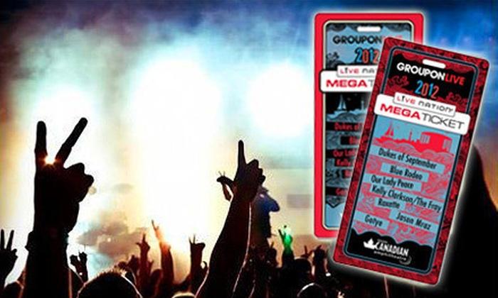 Molson Canadian Amphitheatre Megaticket - Molson Canadian Amphitheatre: Four Concerts, Including Gotye, Kelly Clarkson, Jason Mraz, and Roxette, at Molson Canadian Amphitheatre