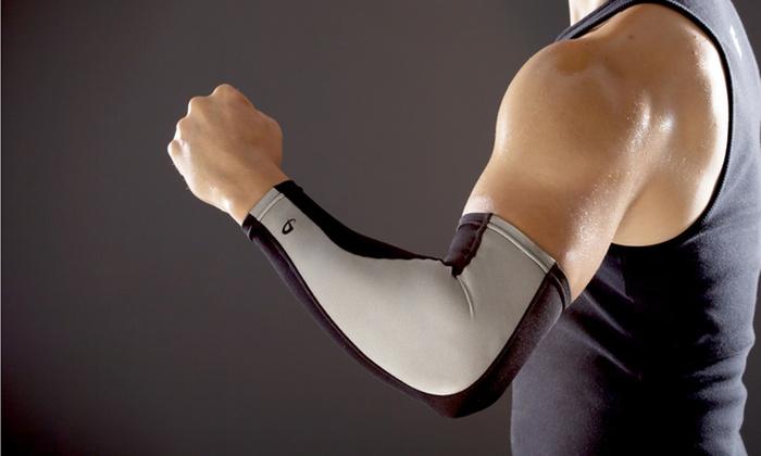 Phiten X30 Power Arm-Compression Sleeve: Phiten X30 Power Arm-Compression Sleeve in Black or White
