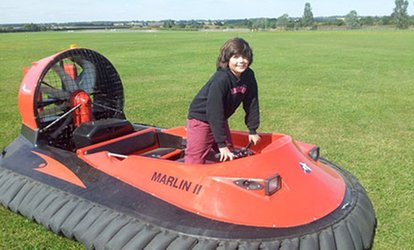 Five-, Ten- or 15-Lap Hovercraft Experience from Experience Limits, Three Locations