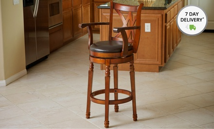Great Deal Furniture Hanford Armed Swivel Bar Stools. Two Options Available. Free Returns. 90-Day Warranty.