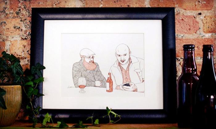 "Rine Boyer Art: $79 for an 8.5""x11"" Custom Ink Portrait with Shipping from Rine Boyer Art ($160 Value)"