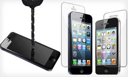 groupon daily deal - 3D Luxe Tempered-Glass Screen Protector for iPhone 4/4s or 5/5s/5c. Free Returns.