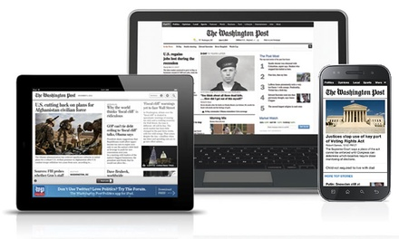 $19 for One Year of Digital Premium Access to The Washington Post (Up to $149 Value)