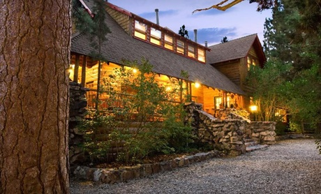 Log Mansion near California's Big Bear Lake