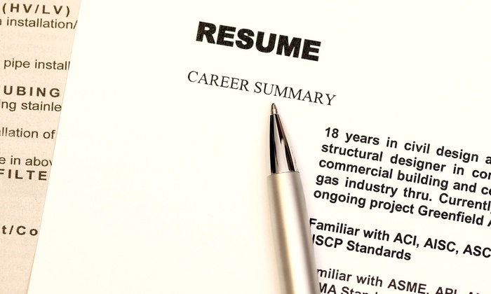 Online professional resume writing services groupon