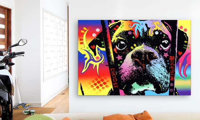 "26""x18"" Dean Russo Animal Art on Canvas: $37.99 for 26""x18"" Dean Russo Animal Print on Canvas ($159.98 List Price). Multiple Options. Free Shipping and Returns."