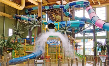 1-Night Stay with Four Water-Park Passes and Dinner at Maui Sands Resort & Indoor Waterpark in Sandusky, OH