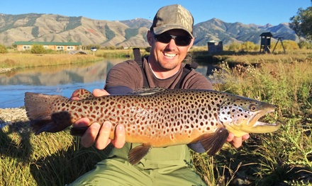 $849 for Two-Night Cabin Getaway for Two with Fly Fishing from Feathered Hook of Jackson Hole ($1,400Value)