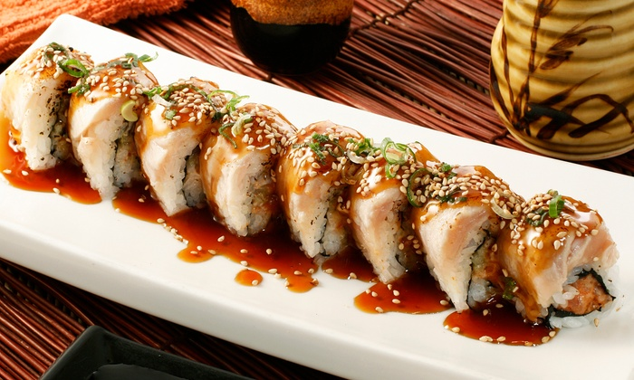Volcano Steak House and Sushi Bar - Fishers Landing: Sushi and Hibachi Cuisine at Volcano Steak House and Sushi Bar (44% Off). Two Options Available.
