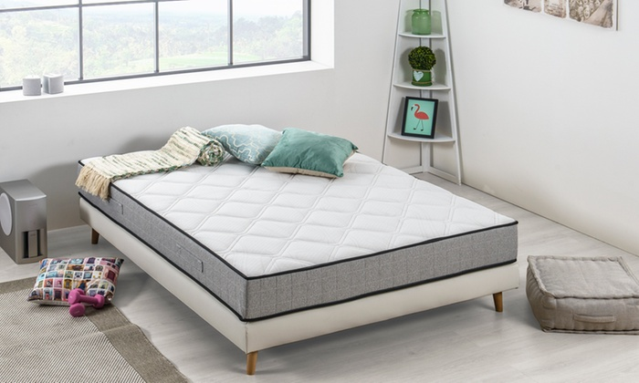 jusqu 39 76 matelas ressort m moire forme groupon. Black Bedroom Furniture Sets. Home Design Ideas