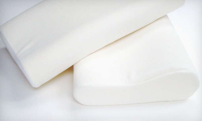 Contour Memory-Foam Pillows: Two Standard or Large Contour Memory-Foam Pillows (Up to 84% Off)