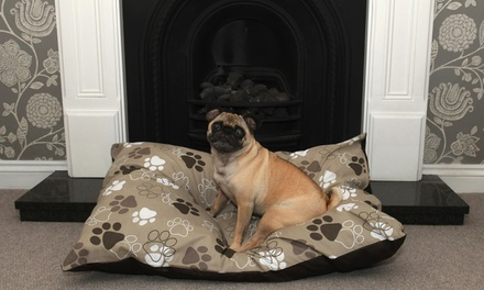 Washable DeepFilled Dog Bed with Removable Zipped Cover