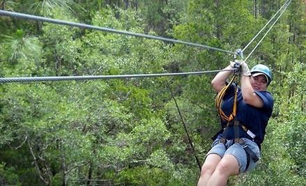 3-Hour Zipline Adventure (an $89 value) - Zip Adventures at Adventures Unlimited in Milton