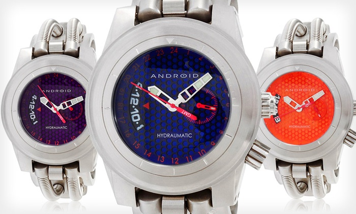 Android Hydraumatic GMT Watches: $99.99 for an Android Men's Hydraumatic GMT Watch ($200 List Price). 3 Colors Available. Free Shipping and Returns.