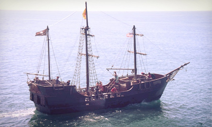 Hawaii Pirate Ship Adventures - Kewalo Basin Harbor: 90-Minute Cruise for One Kid or One Adult, or Two Kids and Two Adults from Hawaii Pirate Ship Adventures (Up to 51% Off)
