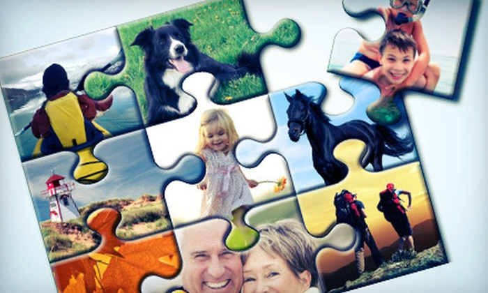 "Puzzle Freak - Mississauga: $15 for Three Photo Puzzles in a Combination of Sizes 4""x6"" and 8""x10"" from Puzzle Freak ($53 Value)"