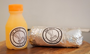 Per Kilo: CBD Breakfast Burrito and Orange Juice ($6) at Per Kilo (Up to $13.40 Value)